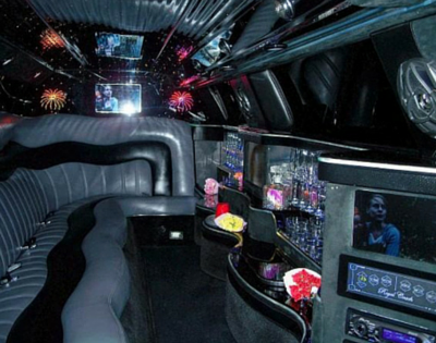 Interior of Chrysler 300 Limo
