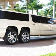 Rear View of Escalade Limousine